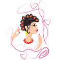 hair rollers vector image
