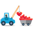 Heart Crane vector image