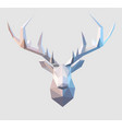 low poly stag vector image