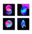 modern abstract liquid gradient effect card set vector image