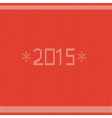 New year greeting card with knitted texture vector image
