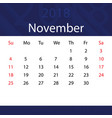 november 2018 calendar popular blue premium for vector image