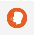Talk or speak icon Loud noise symbol vector image