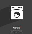 Washing machine symbol Flat modern web design with vector image