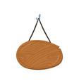 wooden singboard hanging on ropes cartoon vector image
