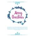 merry christmas wording vector image
