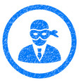 masked thief rounded grainy icon vector image