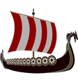 Viking ship vector image