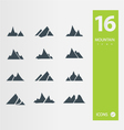 Mountain icons vector image