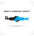 Business partners shaking hands vector image vector image