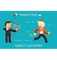 Marketing target customer vector image vector image