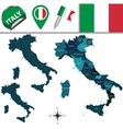 Italy map with named divisions vector image