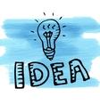 idea light blue spot watercolor doodle vector image