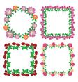 square floral frames - flowers vector image