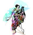 woman dancing vector image