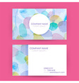 Abstract Business Card Concept Watercolor Splashes vector image