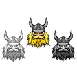 Agressive viking warriors vector image