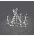 Anchor Hand drawn vector image