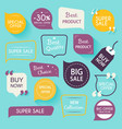 Collection of premium promo sealsstickers Isolated vector image