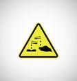 corrosive sign vector image