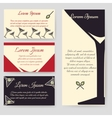 Drinks flyer template set vector image