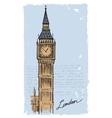 hand drawn Big Ben vector image