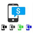 money phone sms flat icon vector image