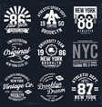 New york brooklyn typography badges set for vector image