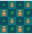 Pattern with cute bears vector image
