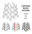 serpentine ribbons for the decoration of the vector image