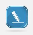 silhouette writing pencil Color square icon vector image