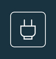 socket outline symbol premium quality isolated vector image