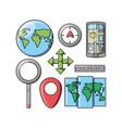 travel and navigation design vector image