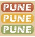 Vintage Pune stamp set vector image