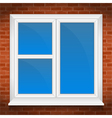 Window in brick wall vector image