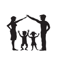 Silhouette of family symbol vector image vector image