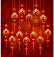 Chinese zodiac symbols on the lantern vector image