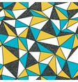 geometric seamless pattern in retro style vintage vector image