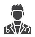 Doctor glyph icon medicine and healthcare vector image