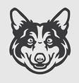 Pembroke Welsh Corgi Head Logo Mascot Emblem vector image