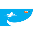 airplane flight tickets air fly cloud sky blue vector image