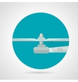 Drone propeller flat icon vector image