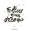 Follow your dreams Modern brush calligraphy vector image