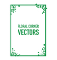 green floral corners background vector image