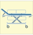 Medical stretcher bed on wheels vector image