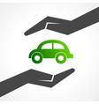 Save eco car concept vector image