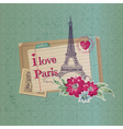 Paris vintage card vector image