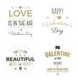 Set of Valentine day typography photo overlays vector image
