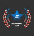 memorial day 29 may vector image