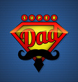 Super dad shield in pop art style vector image
